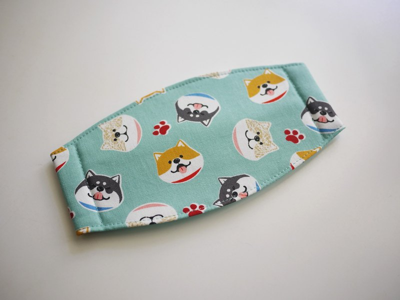 Handmade order = daily essentials = hand masks = smiling Shiba Inu = Lake Green