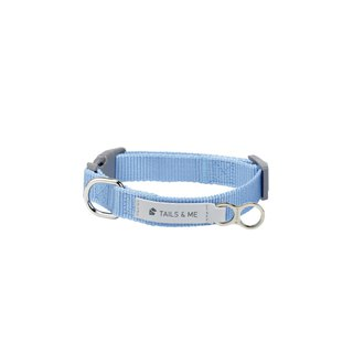 [Tail and me] classic nylon belt collar sky blue