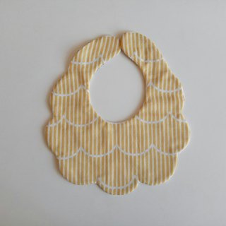 Japanese cotton gauze wavy line moon gift bib six-layer yarn eight-layer yarn