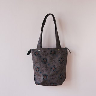 Top Zip Canvas Tote Bag / Firework / Dark Night Grey