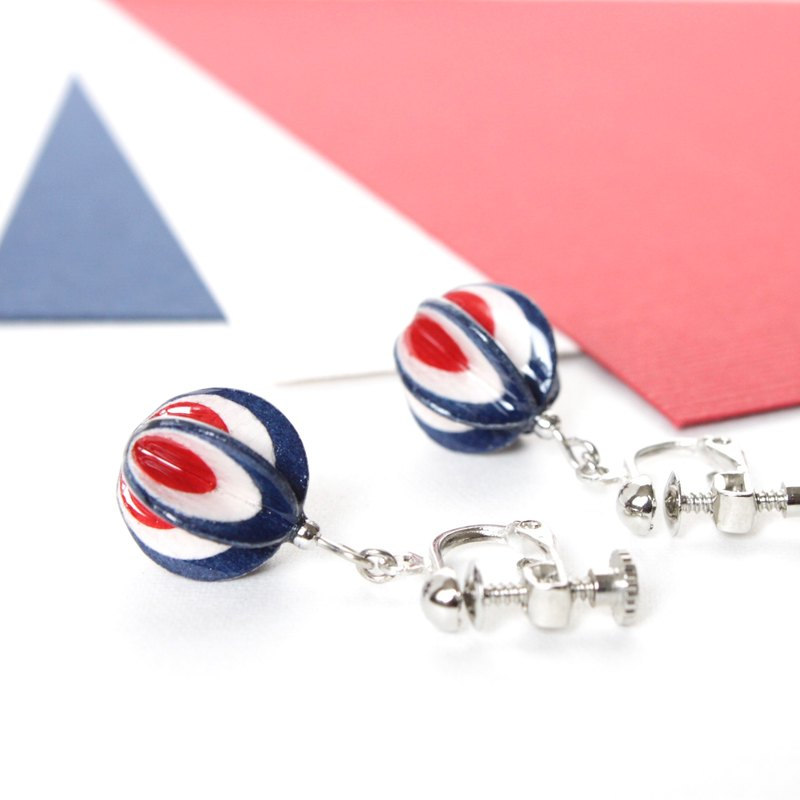 [Order production] Peacock style paper earrings of tricolor color