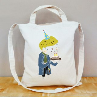 Straight birthday celebration canvas bag