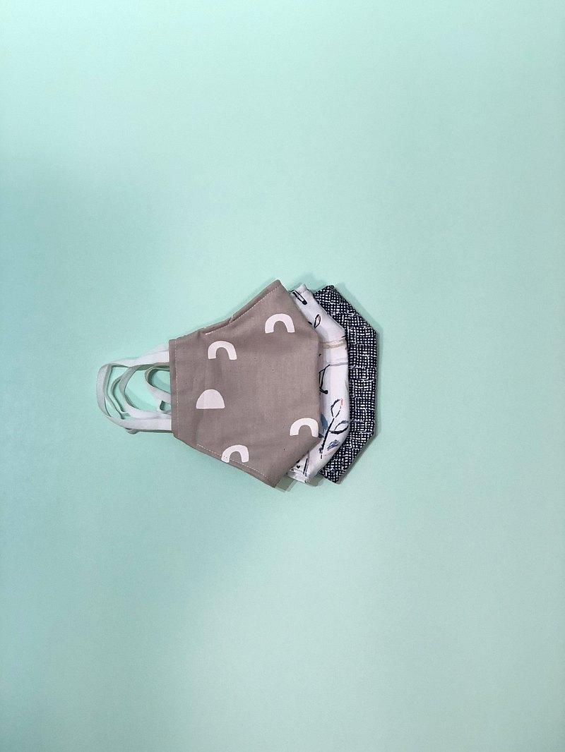 3件裝自選圖案 成人版口罩套 美國日本有機純棉 鼻樑鐵缐廷身效果
