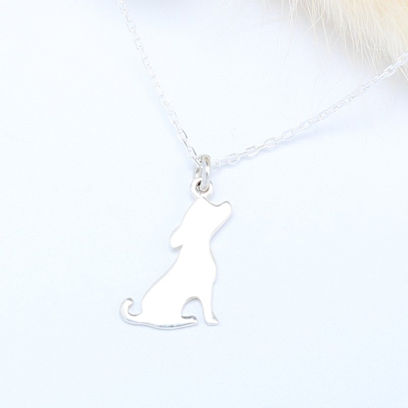 Lucky Dog s925 sterling silver necklace Valentine's Day gift