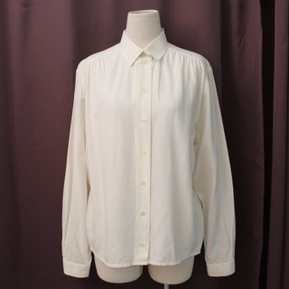 Vintage European plain simple white vintage shirt - special