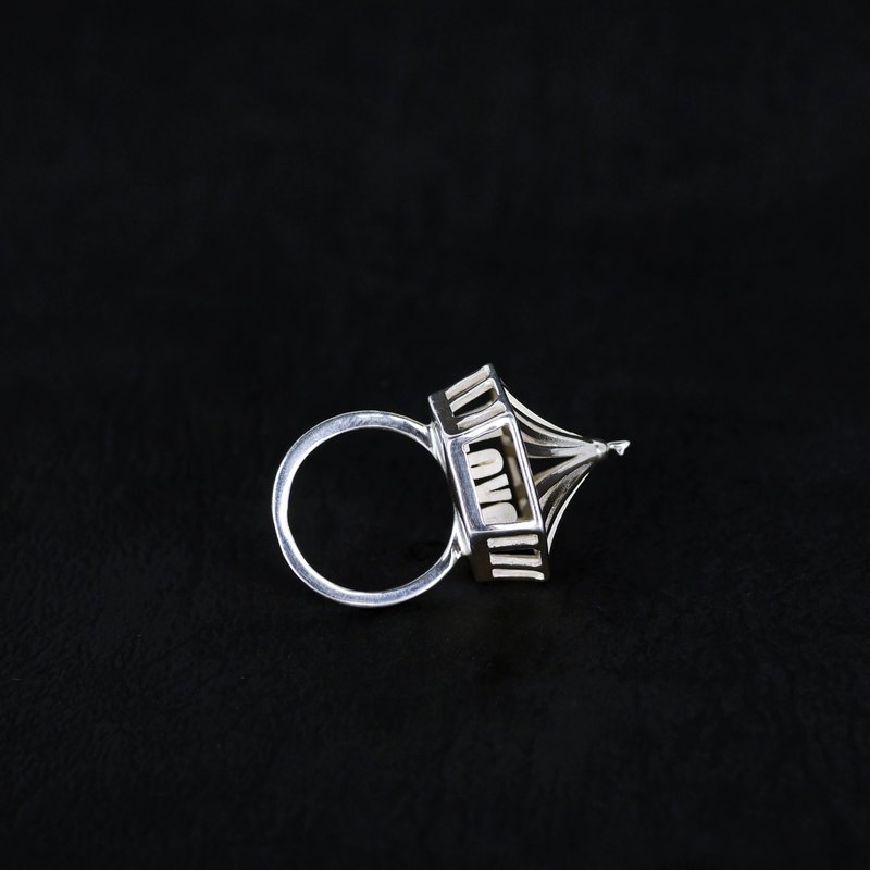 Find Love - Circus LOVE Alphabet Silver Ring