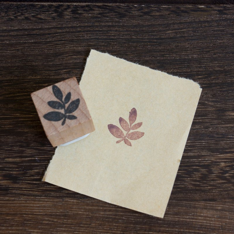 Hand engraved rubber stamp plant 2 seal stationery hand account