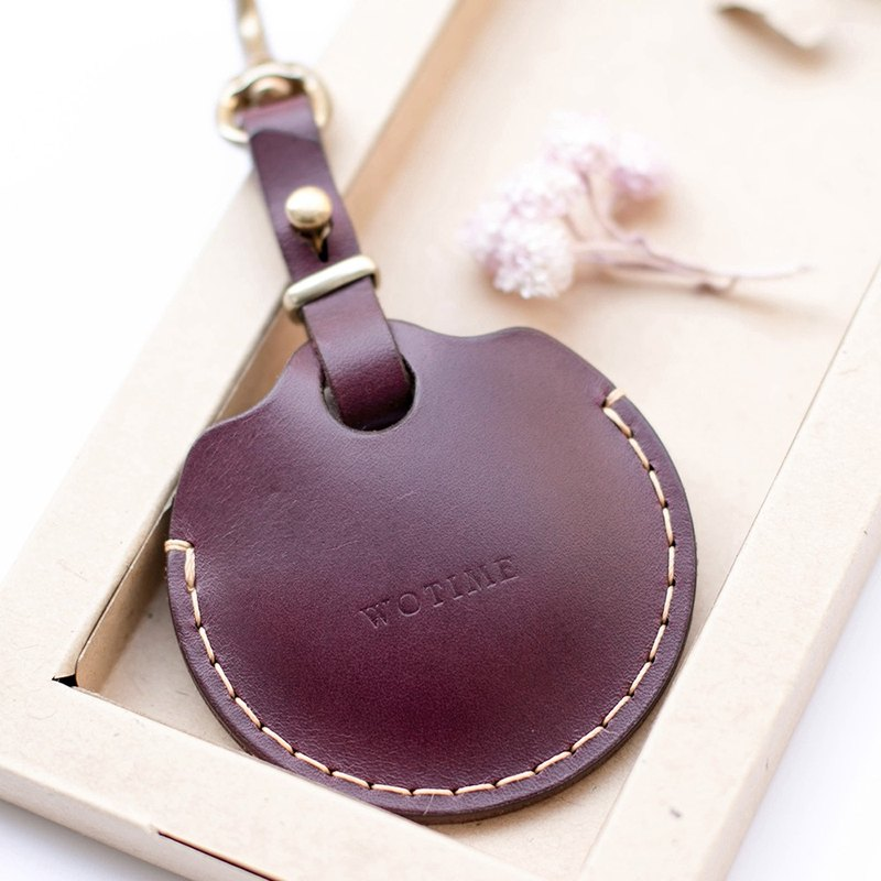 Wotime-GOGORO vegetable tanned leather key leather case - Dandi purple