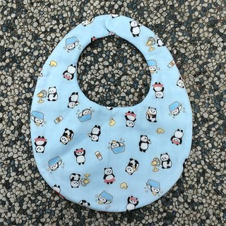 Lazy panda double-sided hand-made bibs / Miyuki gifts birthday gifts Christmas gifts