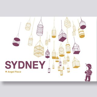 little ship Travel Illustration Postcards Sydney Series │ Cage Street Angel Place