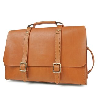 JIMMY RACING Oversized Vintage Leather Doctor Bag - Camel 041600226