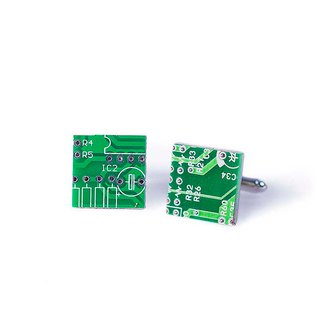 New Sexy-Science Cufflinks (Circuit Board)