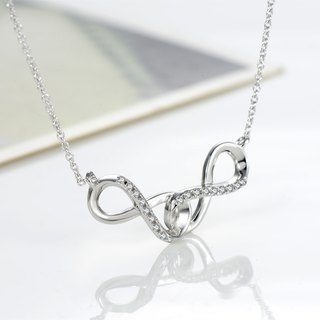Infinite Love 925 Silver Mathematical Symbol Element Necklace