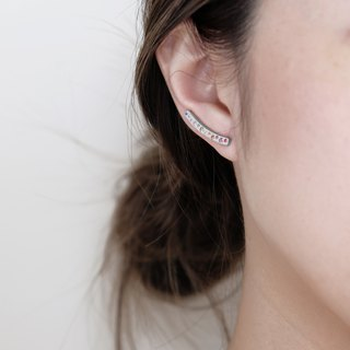 NEW! Rainbow Stone Ear Cuff | Silver
