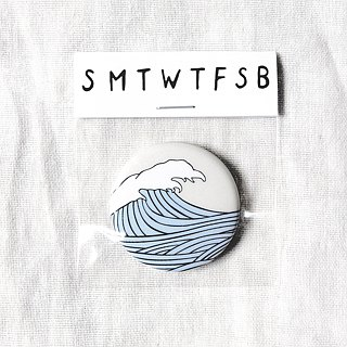 Temperament sea wave badge / badge / pin / brooch