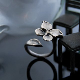 Flower butterfly (retro ‧ lively silver ring)