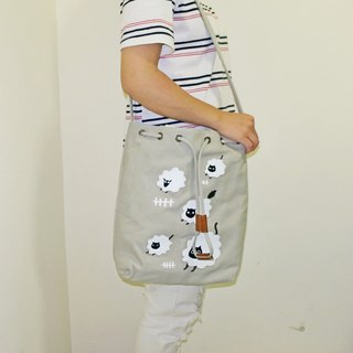 Three cat shop ~ sheep cat bag - gray