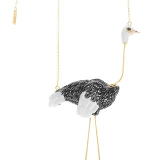 Ostrich porcelain necklace Christmas gift