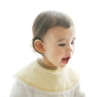MARLMARL Baby Bib Dolce Sweetheart Series (yellow lace)