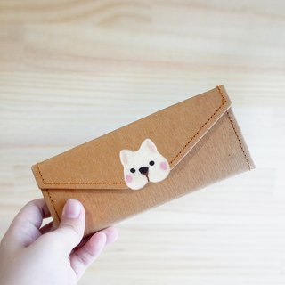 [Q-cute] Washed Kraft Paper Series - Spectacle Case - Dog Head / Custom