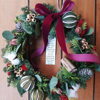 Grassy Fruit Christmas Wreath | Christmas Gifts | (Dryable Wreath) Taipei