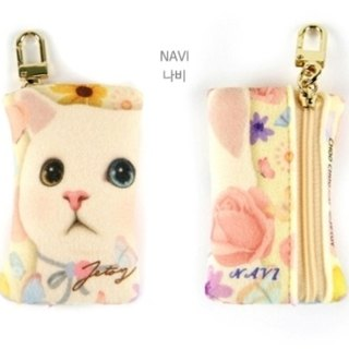 JETOY, Sweet Cat Coin Purse Keychain_Navi J1611203