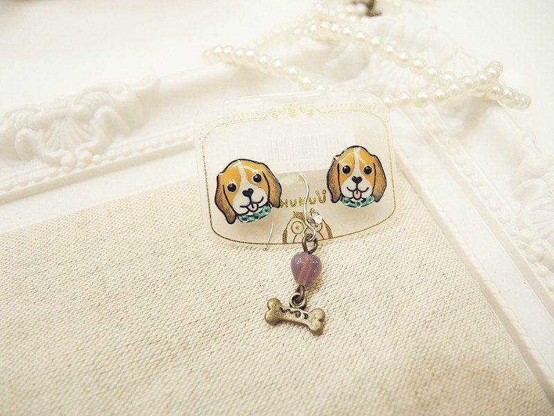 § HUKUROU§ three-piece earrings
