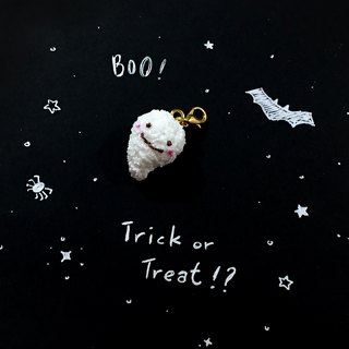 Halloween Trick or Treat Marshmallow Pendant | Simulation Dessert Clay Pendant