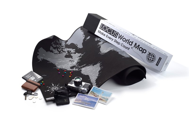Welfare goods] LOCUS track world map - Make your world map (suede + ...