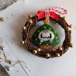 sleeping original handmade Christmas day, I love you Christmas Confession I love you [Christmas tree kitten] Christmas wreath