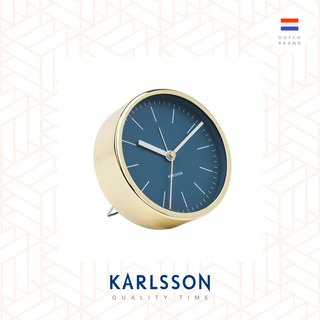 Karlsson, Alarm clock Minimal petrol blue w. shiny gold case