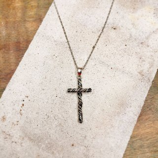 Twisted cross necklace men and women are suitable