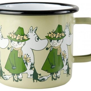 Moomin Finnish Lulu enamel mug 3.7 dl (2017 Spring Friends Garden Green) Christmas gifts Valentine's Day gift exchange gifts