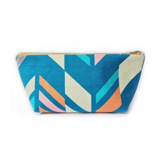 Modern Yagasuri Large Zipper Pouch, Japanese Arrows Prints
