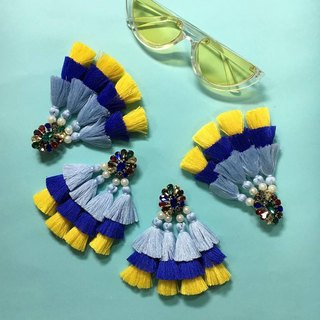 earrings : BABA YAYA sky/blue/yellow
