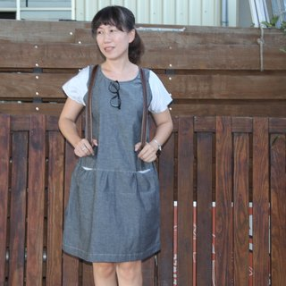 Organic cotton denim dress