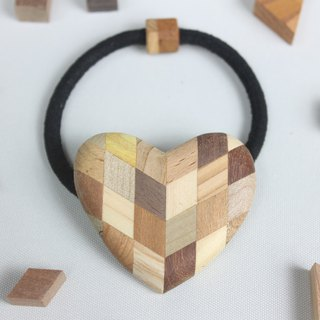 Parquet Heart Hair Rubber