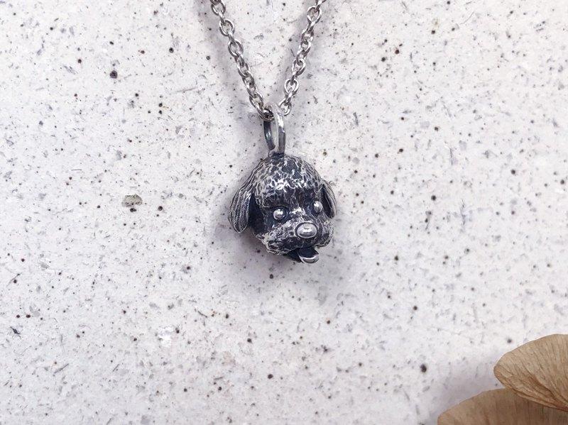 貴賓狗-純銀項鍊