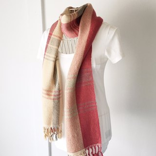 "Unisex hand-woven scarf ""Beige color mix"""