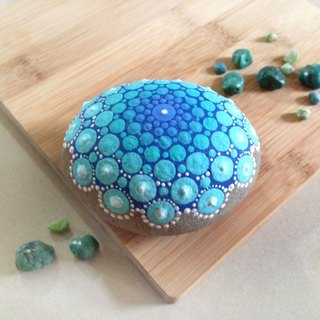 Turkey Blue Mandala stone