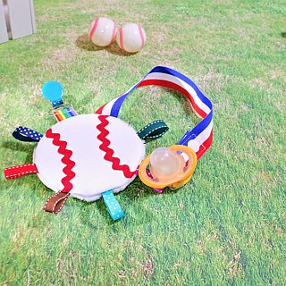 Baseball appease towel pacifier chain clip shape pacifier chain clip
