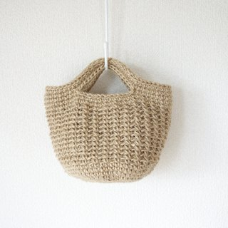 yuoworks / round bottom tote bag(small) / jute