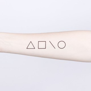 Surprise Tattoos / Minimalist Geometry Temporary Tattoo