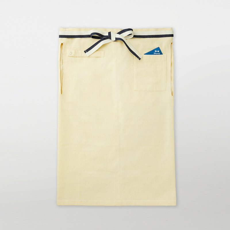Japan BRUNO Food Salon Half-length Apron (White)