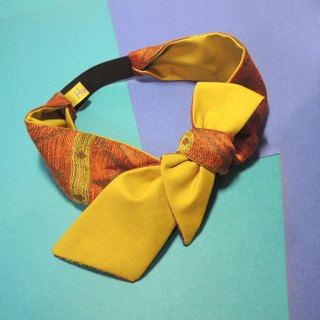 Orange sawtooth Headband