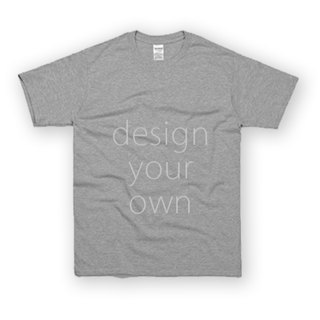 Bay has a custom neutral gray T-shirt double-sided printing AC4-295H