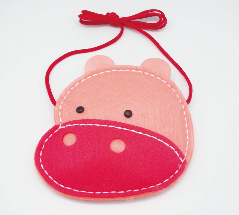 Fairy Land [Material Pack] Animal Crossbody Bag - Hippo