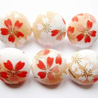 Knitting sewing cloth button buttons handmade materials Button pink cherry blossoms