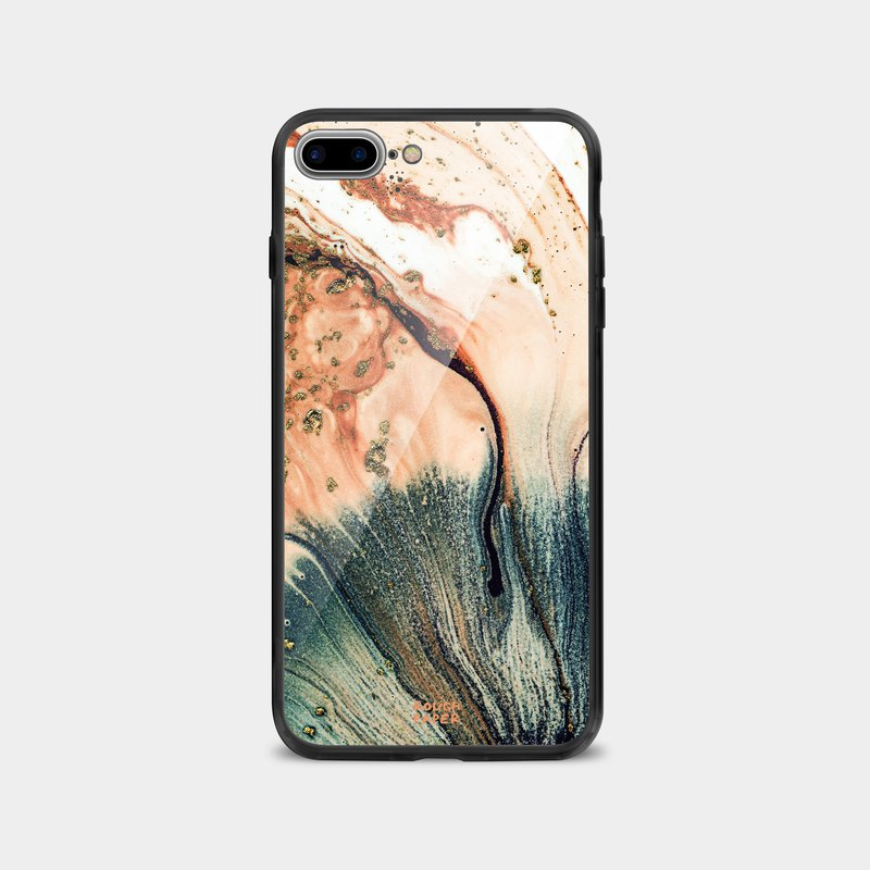 Temperament milk tea color sandpaper marble | tempered glass shell | mobile phone shell