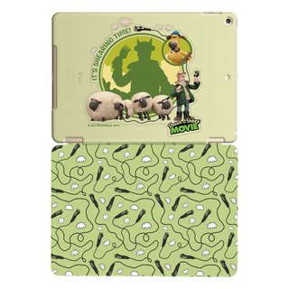 "Smiled sheep genuine authority (Shaun The Sheep) -iPad crystal shell: [show] shearing ""iPad Mini"" Crystal Case (Green) + Smart Cover magnetic pole (green)"